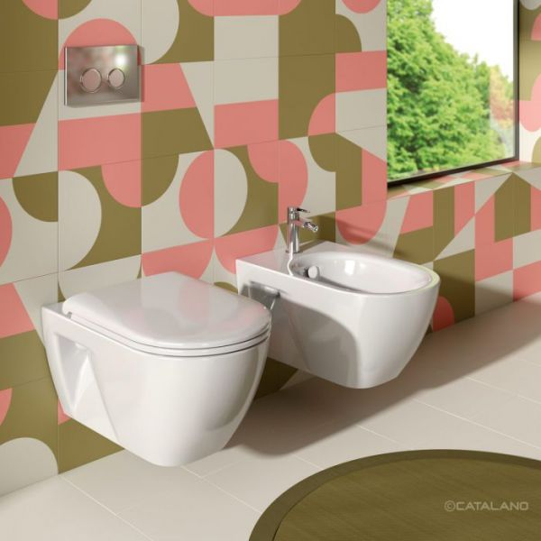Catalano Sfera 54 NF New Flush Eco Coppia Sospesa Vaso e Bidet