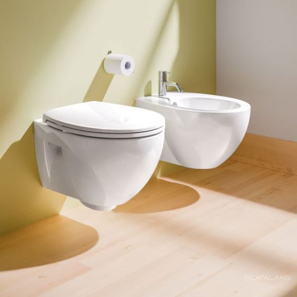 Catalano New Light 52 Coppia Sospesa Vaso e Bidet 52x35 cm