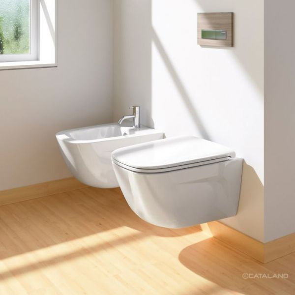 Catalano New Light 53 Coppia  Sospesa Vaso e Bidet con Fissagio Incluso
