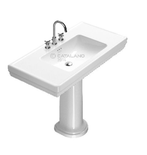Catalano Lavabo Su Colonna Royal 105 Bianco