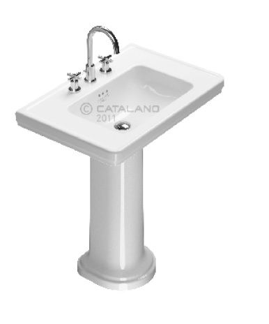 Canova Catalano Lavabo Su Colonna Royal 75