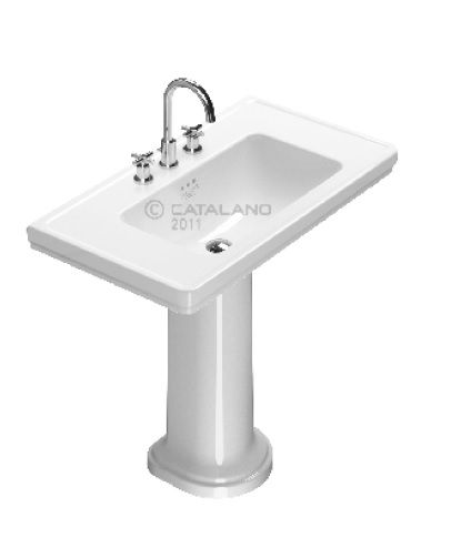 Catalano Lavabo Su Colonna 90 Cm Canova Royal 90 X 50