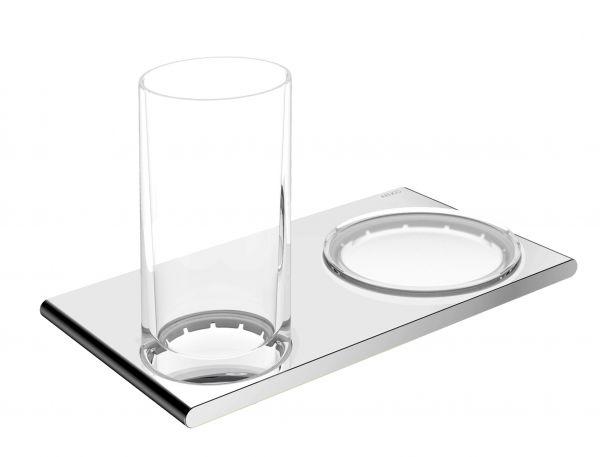 Keuco Edition 400 Supporto Con Bicchiere E Portasapone Da Parete Cromo