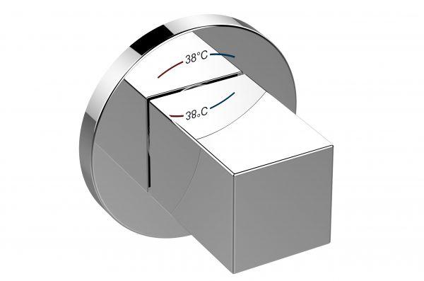 Batteria Termostatica Cromo Sottotraccia Dn 15