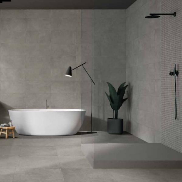 Ceramica Euro Block Grigio effetto cemento quadrato 60x60