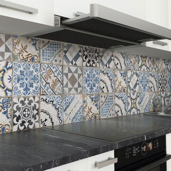 Tuscania Gres Porcellanato Effetto Cementina Anticata Agadir Mix 20x20 cm