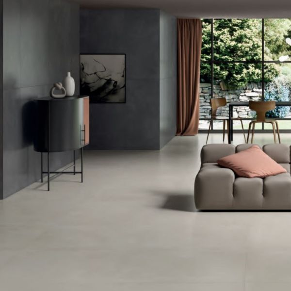 La Fenice Pavimento Effetto Cemento Rettificato Touch Beige 71x71
