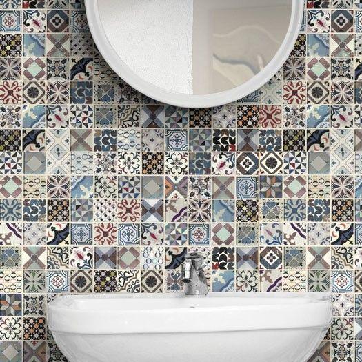 Boxer Vintage Multicolor Mosaico a Tessere Marmo e Vetro 30x30 cm
