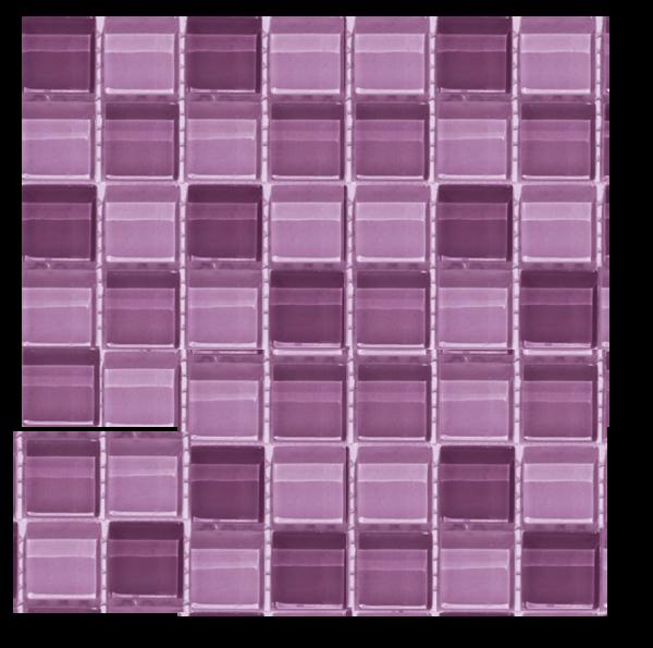 La Fenice Glass Mix Viola 30x30 cm Mosaico Effetto Vetro Mixato Viola Rosa Lilla