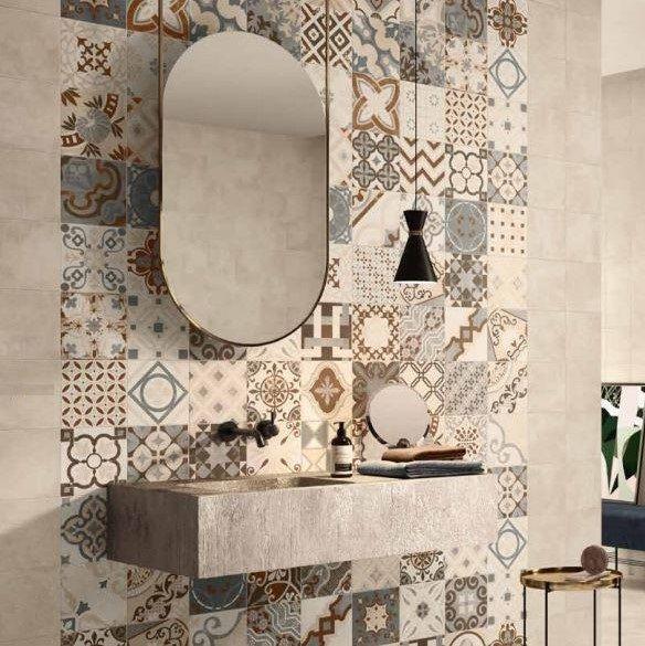 Cementine 20x20 cm Gres Porcellanato Multi Mix Beige Opus Casalgrande Padana