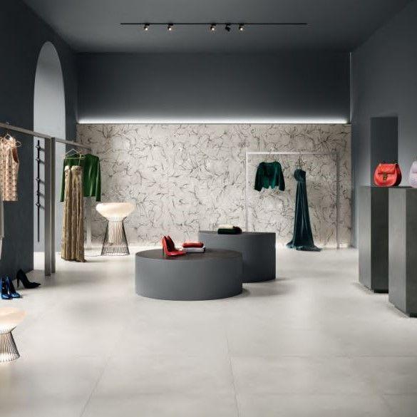 La Fenice Touch Bianco Pavimento Gres Porcellanato Effetto Cemento 71x71
