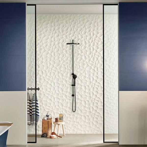 Love Tiles Rivestimento 3D Bianco Opaco Genesis Leaf White Mat 30x60