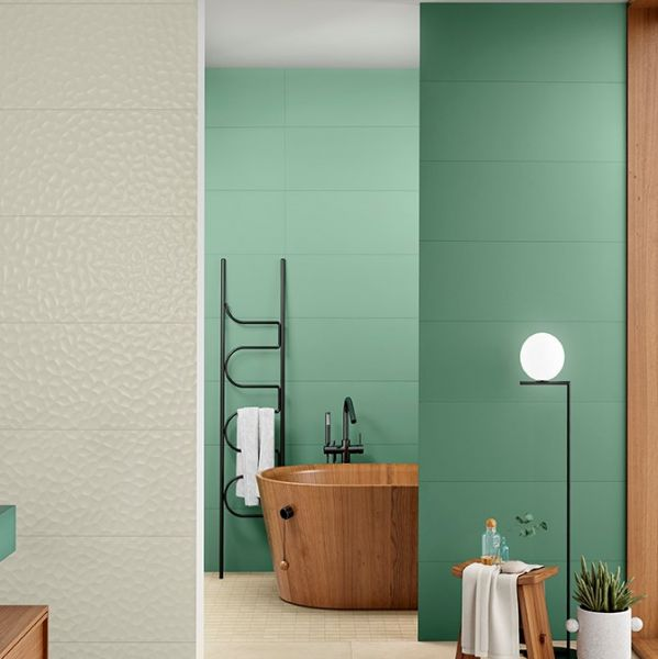 Rivestimento Love Tiles Genesis Verde Green Matt 30x60 Bordi Rettificati